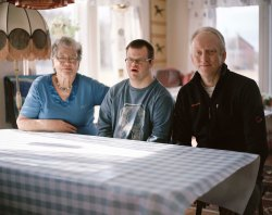 Three generations of the Olsen family - Mary, Stig Andreas and Kjell Ivar